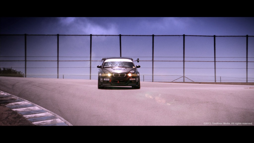 The #46 Performance Technic BMW M3 race car putting laps in at Laguna Seca Raceway in the US Touring Car Championship series. This shot is pulled from our Cinema Camera ProRes HQ footage using the Fujinon 7.6x17 ENG HD lens.