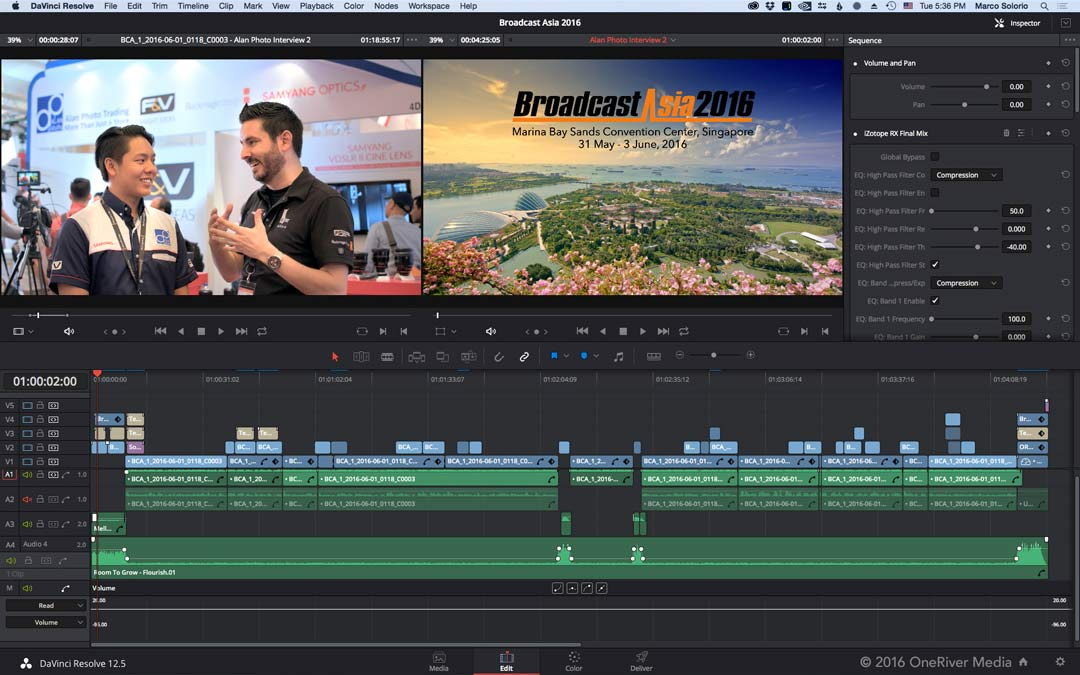 While presenting in Singapore for Broadcast Asia and a special Blackmagic Design event, I took time to also produce interviews (edited and graded in Resolve), which you can view on our YouTube channel.