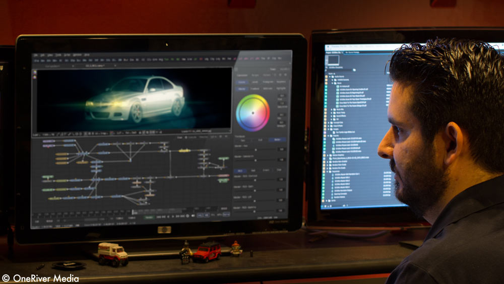 Fusion offers high-end node-based digital compositing in both the Studio and Free version and works dynamically with DaVinci Reolve.