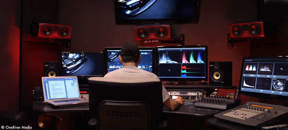 "Working on our 2-hour documentary feature film, ""10/10ths"" (in theaters 2017) in DaVinci Resolve Studio."