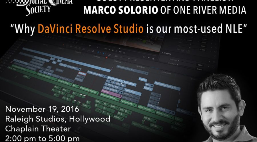 DCS Presentation: Why DaVinci Resolve Studio Is Our Most-Used NLE