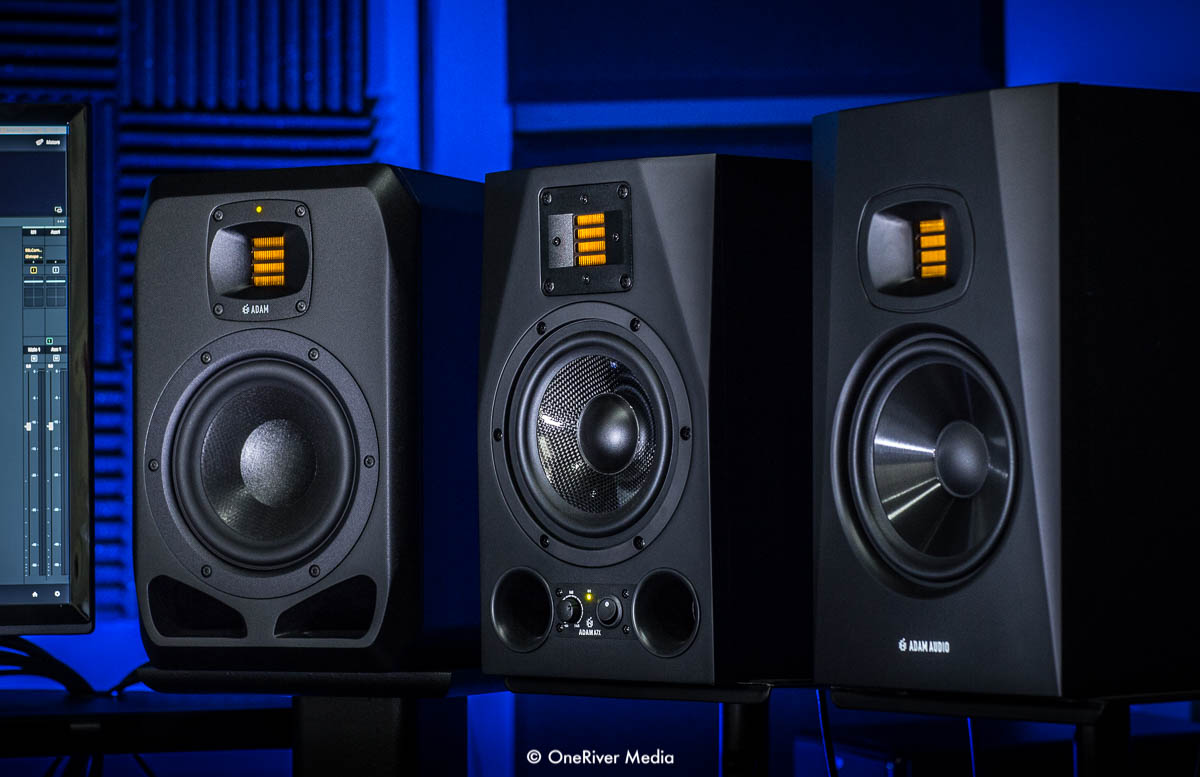 ADAM Audio S2V, A7X, and T7V at OneRiver Media.